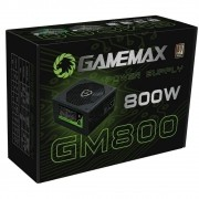 Fonte ATX Gamemax 800W Real 80PLUS/PFC/ Bivol Auto GM800
