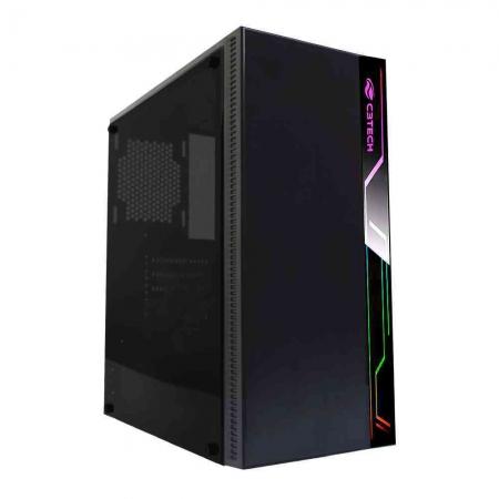 Gabinete Gamer C3TECH MID Tower C/ LED MT-G400BK S/ Fonte