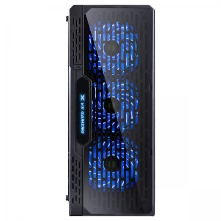 Gabinete Gamer VX Gaming Lumia com Lateral Acrilica Preto 3 X FAN Frontal RGB e Cover de Fonte