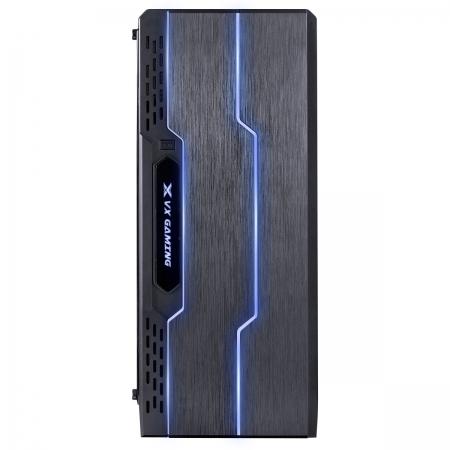 Gabinete Gamer VX Gaming TRON com Lateral Acrilica Preto Fita de LED Frontal