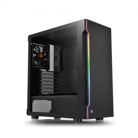 Gabinete TT H200 TG RGB BLACK/SPCCOM TEMPGLASS1/120MM CA-1M3-00M1WN-00*