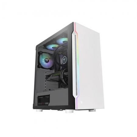 Gabinete TT H200 TG RGB SNOW/TEMPGLASS1/120MM CA-1M3-00M6WN-00*