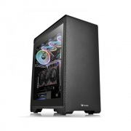 Gabinete TT S500 TG/BK/W/TGLASS1/FAN 1*140MM 1*120MM CA-1O3-00M1WN-01#