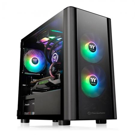 Gabinete TT V150 TG/BLACK/WIN/TEMP.GLASS*2/SPCC CA-1R1-00S1WN-00#