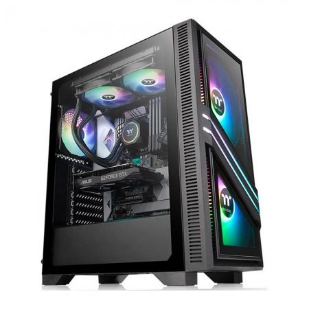 Gabinete TT Versa T35 TG RGB TEMPGLASS*2/120MM STAND CA-1R7-00M1WN-00*