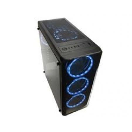Gabinete Warrior Gamer Modoc Lateral em Vidro Temperado ATX/MICRO-ATX/MINI-ITX Preto - GA178