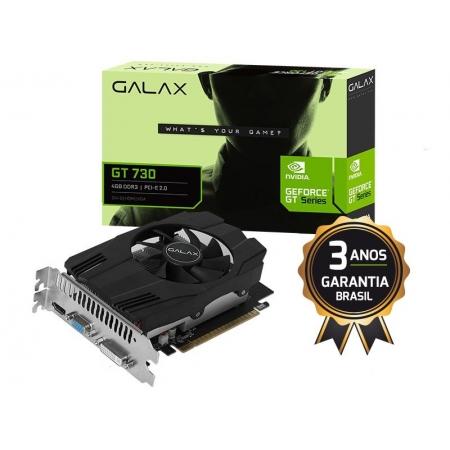 Galax Geforce GT Mainstream Placa de Video Galax 73GQS4HX00WG GT 730 4GB DDR3 64BIT 10640MHZ DVI HDMI VGA
