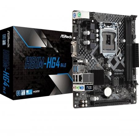 H81M-HG4R4 Motherboard ASROCK H81M-HG4 INTEL LGA 1150 MATX DDR3