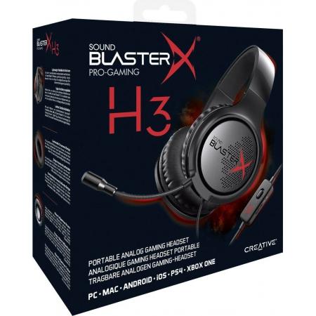 Headset Gamer - SBX H3 - Cancel. Ruido FONE/MIC -  Portatil - Confortavel - P2 - Preta - 70GH034000000