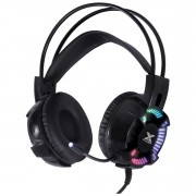 Headset Gamer VX Gaming ENYA Audio 7.1 LED RGB Estatico USB, Microfone Flexivel com Software de Audio - GH400