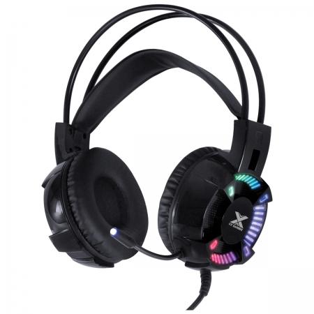 Headset Gamer VX Gaming ENYA Audio 7.1 LED RGB Estatico USB, Microfone Flexivel com Software de Audio - GH400