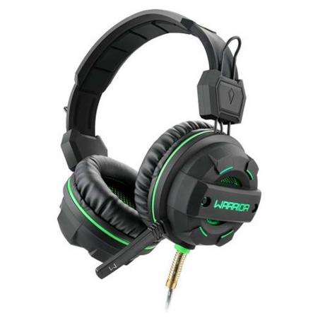 Headset Gamer Warrior Magne P2 USB LED Verde PH143