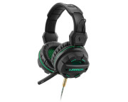 Headset Multilaser Gamer Warrior Magne P2+USB com LED Verde - PH143