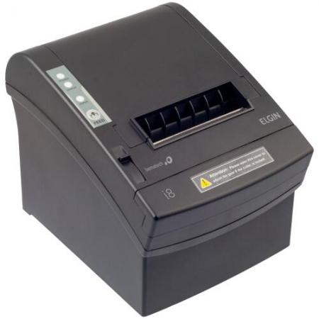 Impressora Termica ELGIN I8 USB/SER/REDE Guilhotin - 46I8USECKD00 Preto Bivolt