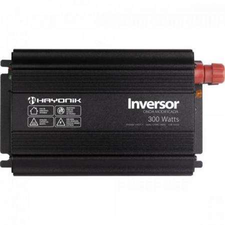 Inversor de ONDA Modificada 300W 12VDCOM127V USB Cinza Escuro Hayonik