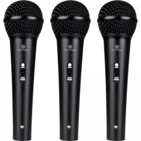Kit C/ 3 Microfones Dinamicos Cardioide MDU201 Harmonics - KI / 3
