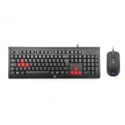 Kit HP INC Gamer Teclado, ABNT2 + Mouse  KM100 (KM100)