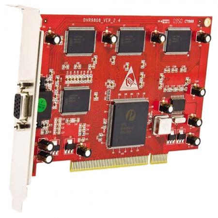 Kit Placa DVR Seykon PCI SK-9808 8 Canais Real Time