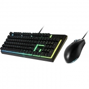 Kit Teclado e Mouse Gamer Cooler Master Semi Mecanico MS-111 RGB USB 2.0 - MS-111-KKMF1-BR