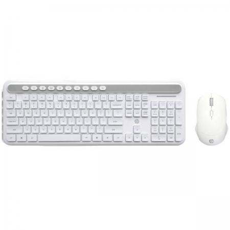 Kit Teclado e Mouse sem Fio CS500 Branco