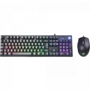 Kit Teclado e Mouse USB Gamer KM300F Preto