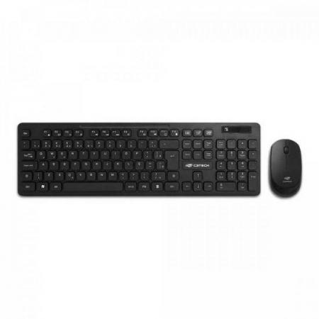 Kit Teclado + Mouse sem Fio K-W20BK Preto C3TECH