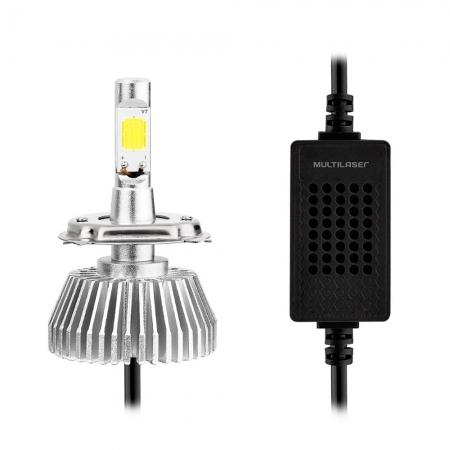 Lampada Multilaser Super LED H7 6200K PAR