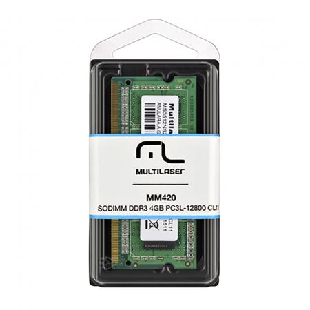 Memoria Notebook Multilaser Sodimm DDR3 4GB MM420