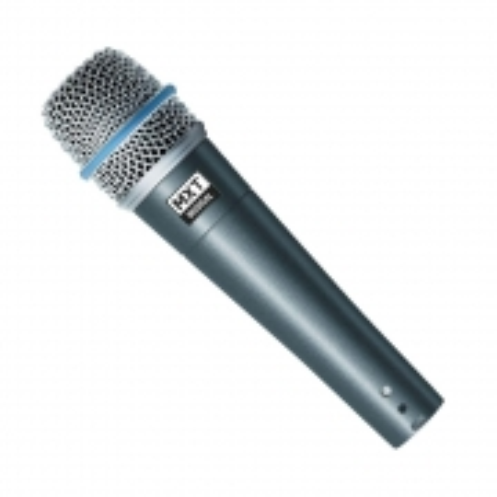 Microfone Dinamico PRO BTM-57A Metal - Profissional com Cabo 3 Metros O.D.5.0 MM