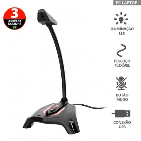 Microfone Gamer TRUST -GXT 215 Zabi LED 23800
