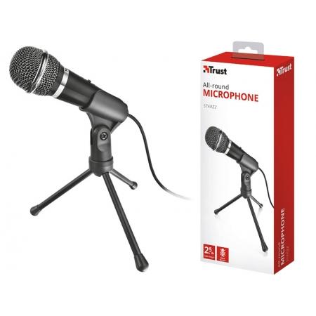 Microfone para PC e Notebook Microfone 21671 S STARZZ Streamer com Tripe e Conector P2