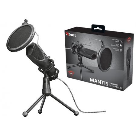 Microfone para PC e Notebook Microfone 22656 GXT-232 Mantis Streamer para Transmissao em Fluxo USB