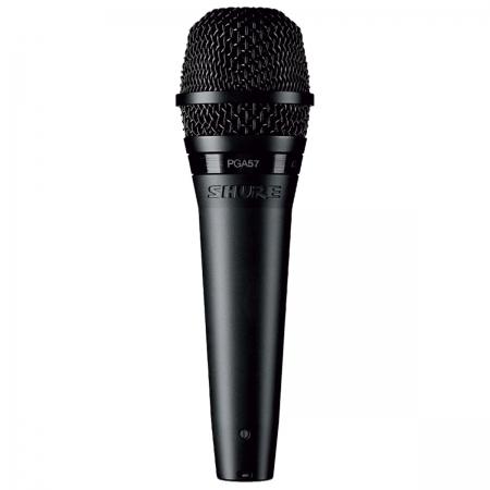 Microfone Profissional com Fio PGA57, Acompanha Cabo e Suporte