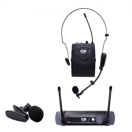 Microfone sem Fio MXT UHF10BP HEADSET/ Lapela FREQ. 537.2MHZ