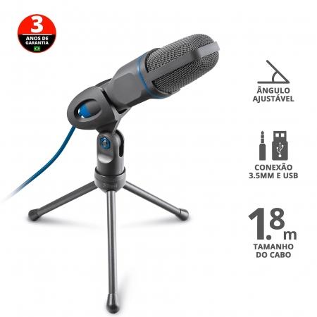 Microfone TRUST USB, Ajustavel com Tripe - 23790