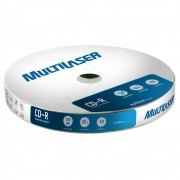 Midia CD-R Multilaser CD027 700 MB 52X Shirink com 10 Unidades