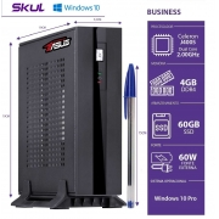 Mini Computador Business B100 BY ASUS-CELERON Dual Core J4005 4GBDDR4 SSD60GB 1XSERIAL WIN 10PRO