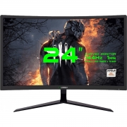 Monitor Gamemax 24  LED BLACK Tela Curva GMX24C144