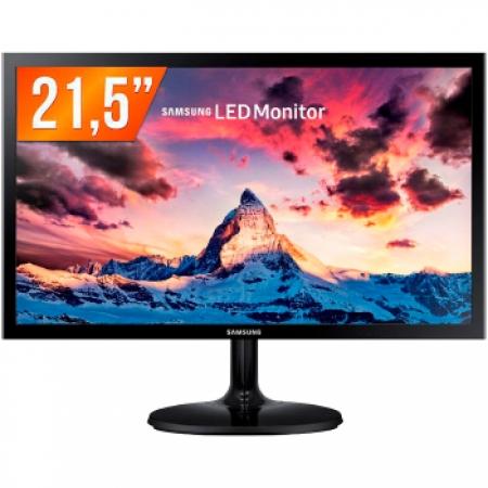 Monitor Samsung LED 21.5P LS22F350 HDMI D-SUB Vesa - LS22F350FHLMZD Preto Bivolt