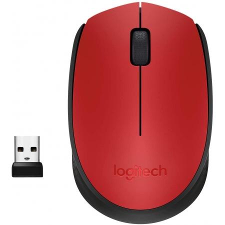 Mouse Optico sem Fio M170 Vermelho Logitech - Blister