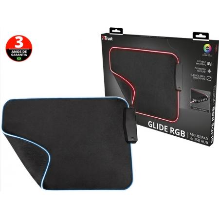 Mouse PAD Mouse PAD 23646 GXT-765 Glide RGB de ALTA Precisao com HUB 4 Portas USB