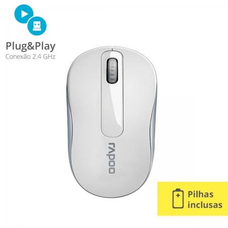 Mouse sem Fio 1000DPI RA008 Branco