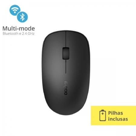 Mouse sem Fio 1300DPI Bluetooth RA011 Preto