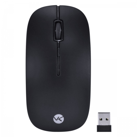 Mouse sem Fio 2.4 GHZ 1200 DPI Dynamic FLAT Preto USB - DM100