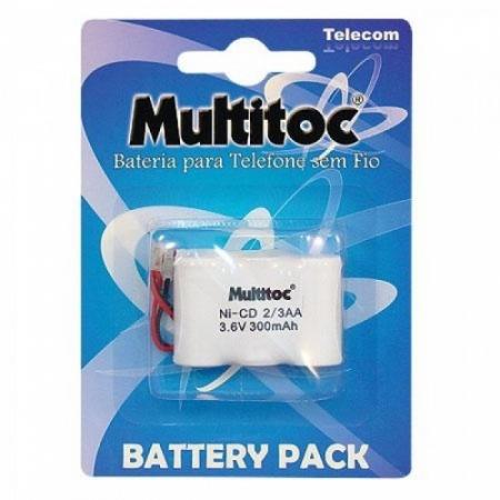 Multitoc Bateria P/ Telefone S/ Fio 3,6X300MAH 2/ 3AA PLUG Universal