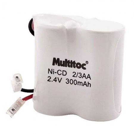Multitoc Bateria P/ Telefone sem Fio 2,4X300MAH 2/3AA