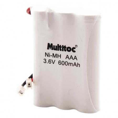 Multitoc Bateria P/ Telefone sem Fio 3,6X600MAH 3AAA