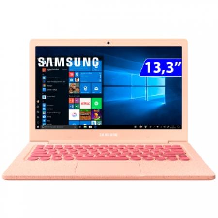 Notebook Samsung F30 13.3P CEL N4000 4GB 64SSD W10 - NP530XBB-AD3BR Rosa Bivolt