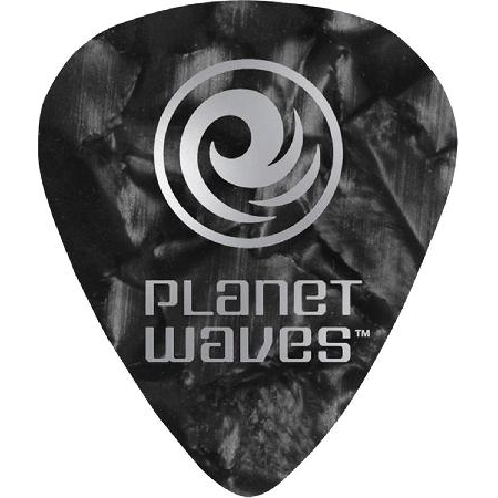 Palheta para Guitarra de Celuloide 1CBKP2-10 - Preto Pa?rola - Leve - (PCT com 10 Unidades)