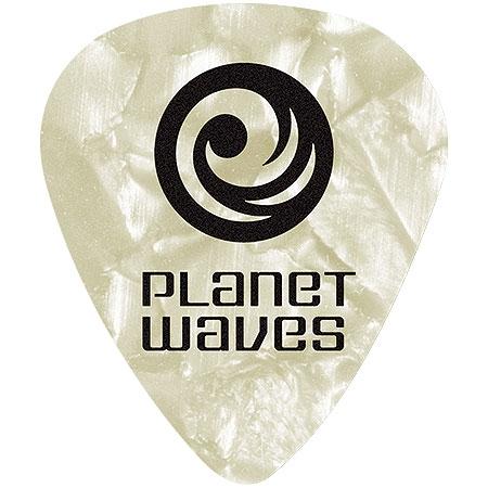 Palheta para Guitarra de Celuloide 1CWP2-10 - Branco Pa?rola - Leve - (PCT com 10 Unidades)